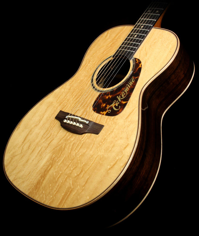 bc6a2aa582d8 Used Takamine TLE-M1 Limited Edition Orchestra Malaysian Blackwood Acoustic  Guitar Natural 51010439