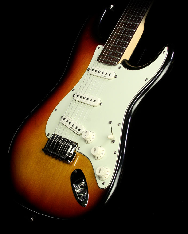Used 1999 Fender American Deluxe Stratocaster Electric Guitar Three-Tone Sunburst