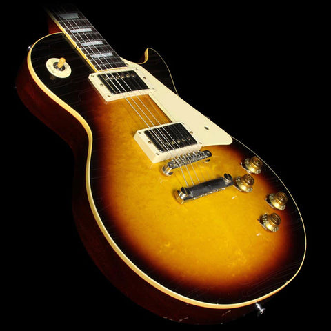 Used 2015 Gibson Custom Shop Aged True Historic 1958 Les Paul Reissue Electric Guitar Aged Vintage Dark Burst