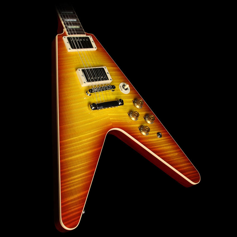 Gibson Custom Shop Flying V Standard Electric Guitar Washed Cherry