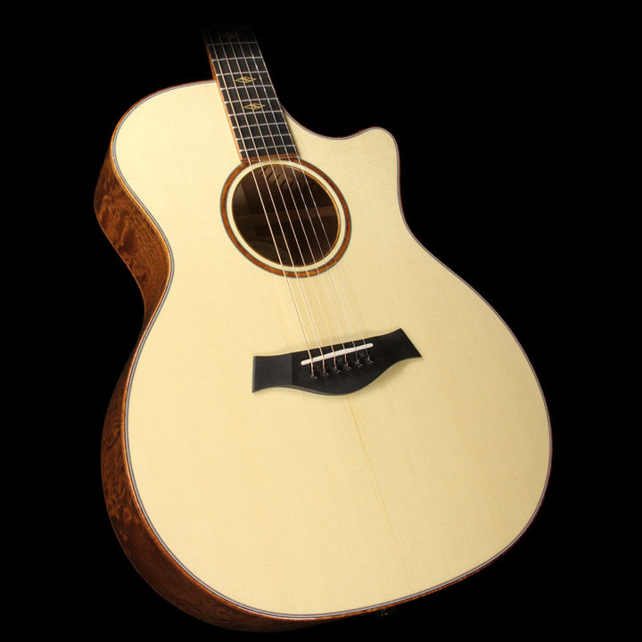 Used 2015 Taylor Custom Shop BTO Grand Auditorium Quilted Sapele Acoustic Guitar Natural 1104215169