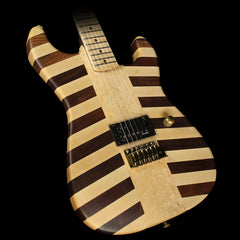 Used 2010 Charvel Custom Shop NAMM Showpiece Butcher Block San Dimas Electric Guitar Natural Oil