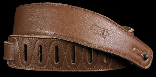 Levy's M26GF Soft Garment Leather Guitar Strap Brown
