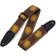 Levy's MPJG Jacquard Weave Guitar Strap Brown Sun