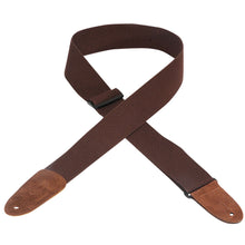 Levy's MC8 Cotton Leather Guitar Strap Brown