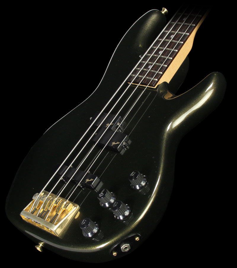 Used 1993 Fender Japan Precision Bass Lyte Electric Bass Guitar Dark Green Metallic