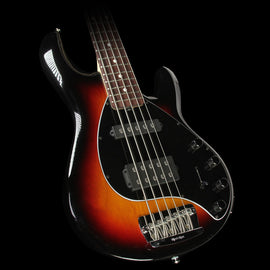 Used 2016 Ernie Ball Music Man Stingray 5 Electric Bass Guitar Tobacco Sunburst