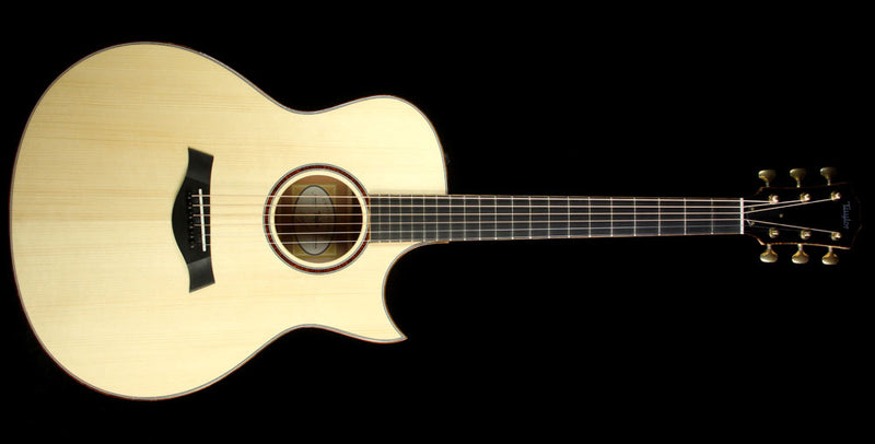 Used 2015 Taylor Custom Shop BTO Grand Symphony Tasmanian Myrtle Acoustic Guitar Natural 1109035144