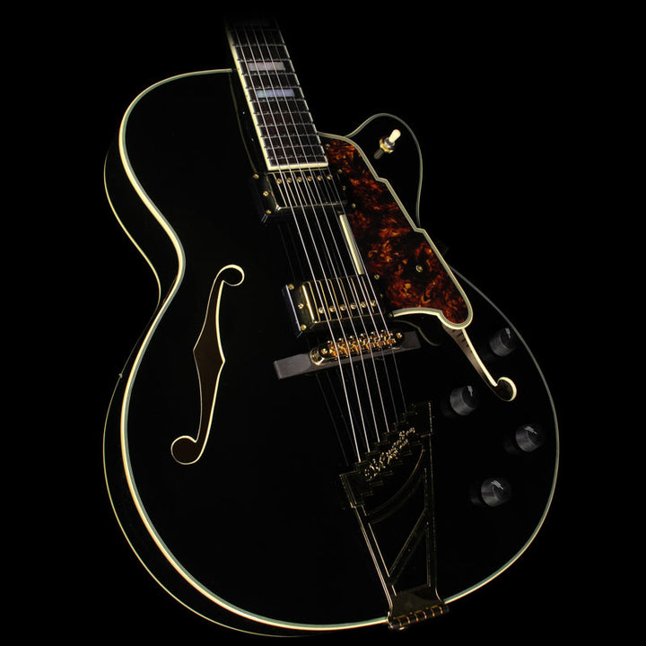Used D'Angelico EX-DH Archtop Electric Guitar Black US14100506