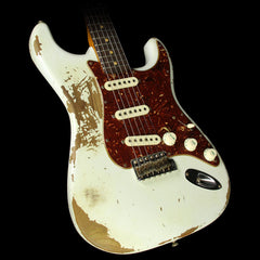 Fender Custom Shop 1961 Roasted Alder Stratocaster Heavy Relic Electric Guitar Olympic White
