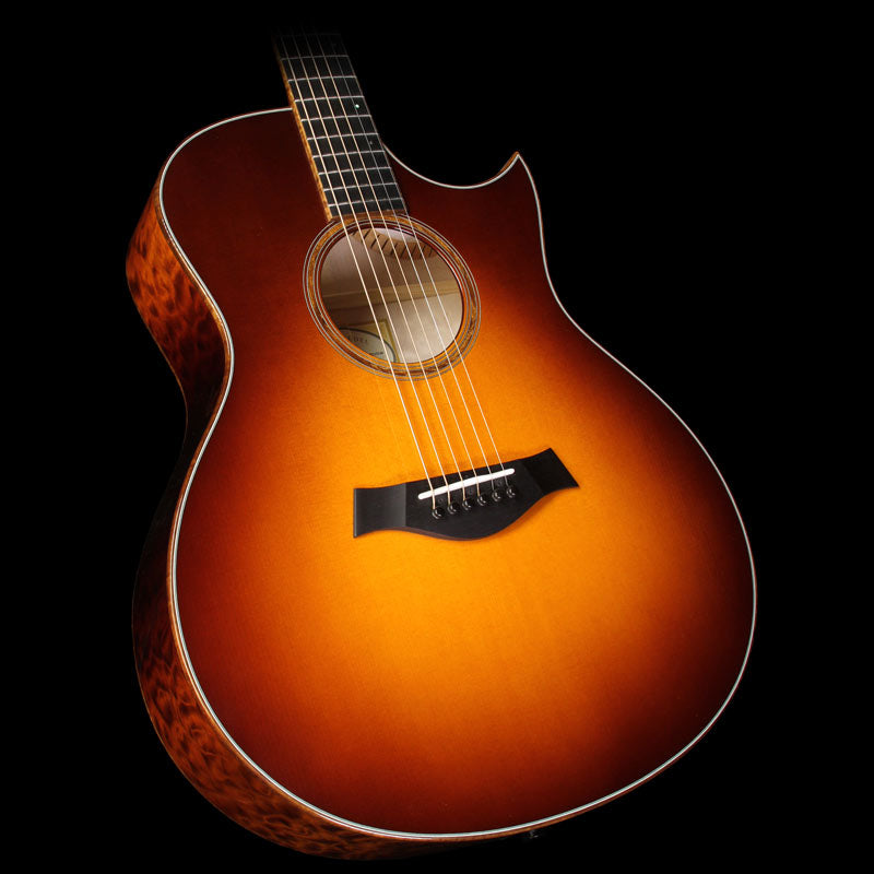 Used 2015 Taylor Custom Shop BTO Grand Symphony Quilt Maple Acoustic-Electric Guitar Desert Sunburst