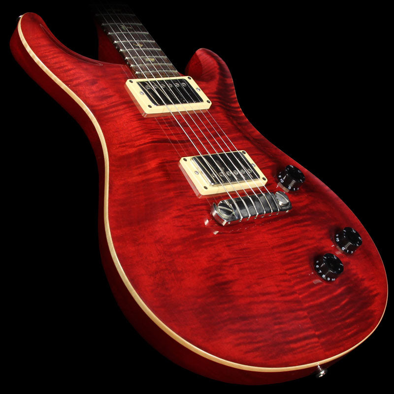 Used 2000 Paul Reed Smith Custom 22 Electric Guitar Transparent Scarlet Red