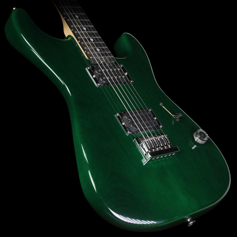 Used 2015 Charvel Custom Shop San Dimas 2H Electric Guitar Transparent Green
