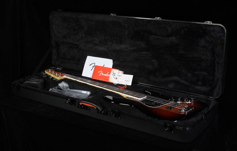 Used 2013 Fender American Deluxe Jazz Bass 3-Tone Sunburst