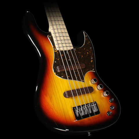 Used 2016 Xotic XJ-1T 5-String Electric Bass Guitar 3-Tone Sunburst