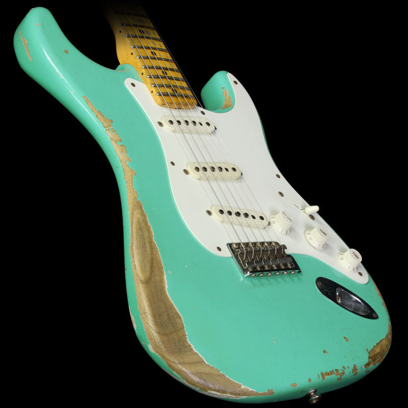 Used 2012 Fender Custom Shop '57 Stratocaster Relic Electric Guitar Seafoam Green