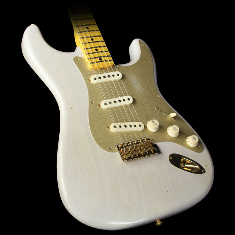 Fender Custom Shop 1957 Roasted Ash Stratocaster Journeyman Relic Electric Guitar White Blonde