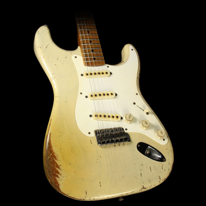 Fender Custom Shop John Cruz 1957 Roasted Ash Ultimate Relic Stratocaster Electric Guitar Vintage Blonde JC3110