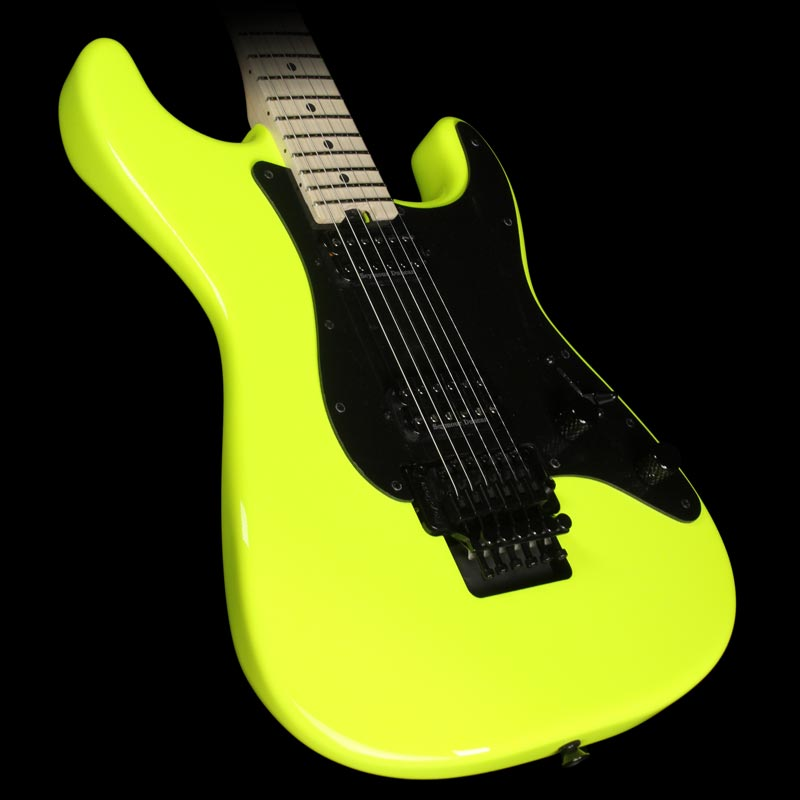 Charvel Pro Mod Series So Cal 2H FR Electric Guitar Neon Yellow