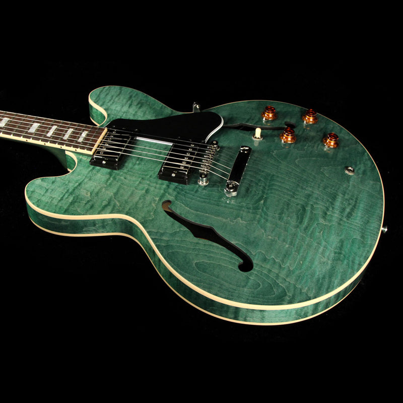 Used 2016 Gibson Memphis ES-335 Figured Electric Guitar Turquoise Stain 13016722