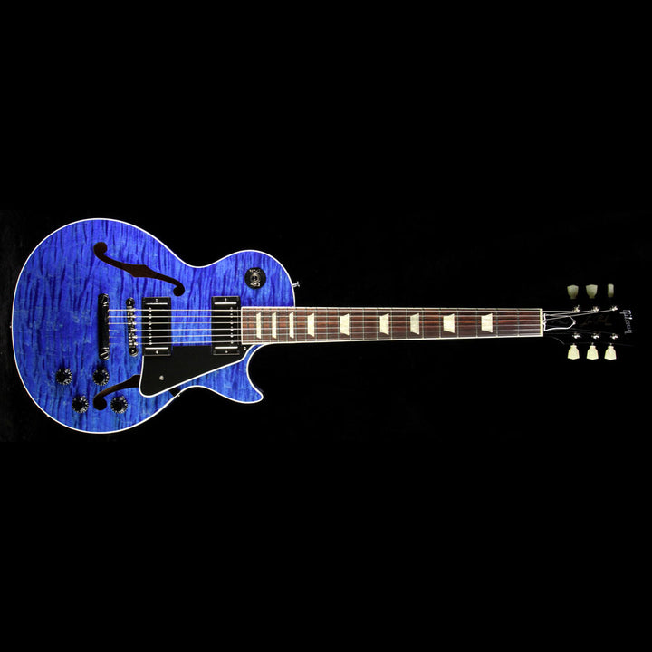 Used Gibson Memphis ES-Les Paul Electric Guitar Blue Stain 12586702