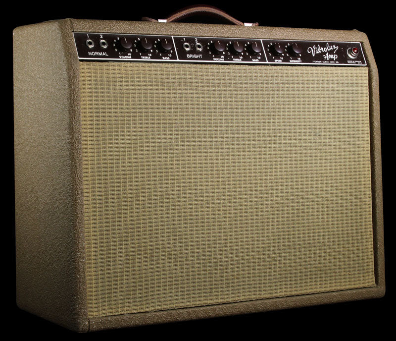 Used 1962 Fender Vibrolux 6G11 Brownface Combo Amplifier