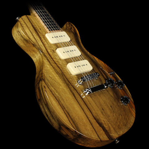 Used McNaught Guitars DTM Black Limba Electric Guitar Natural