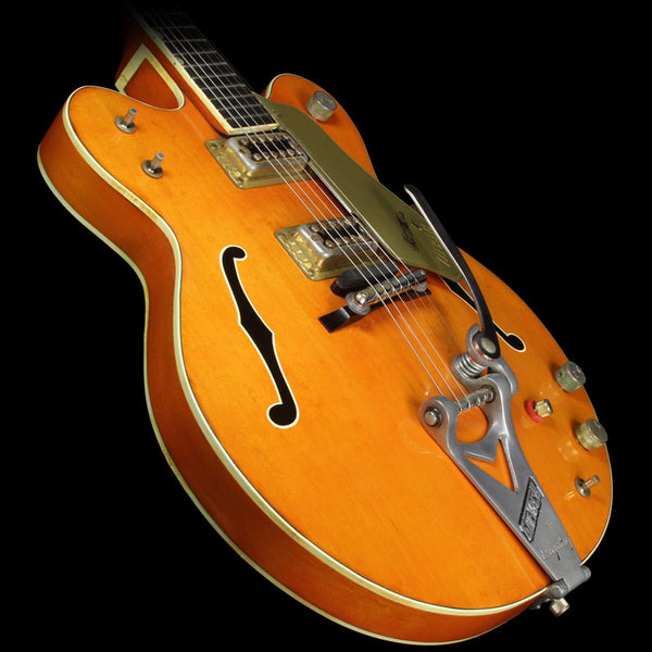 used 1964 gretsch 6120 chet atkins electric guitar orange the music zoo. Black Bedroom Furniture Sets. Home Design Ideas
