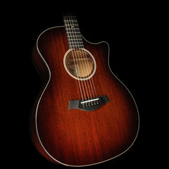 Taylor 524ce All-Mahogany Grand Auditorium Cutaway Acoustic-Electric Guitar Tobacco Edgeburst