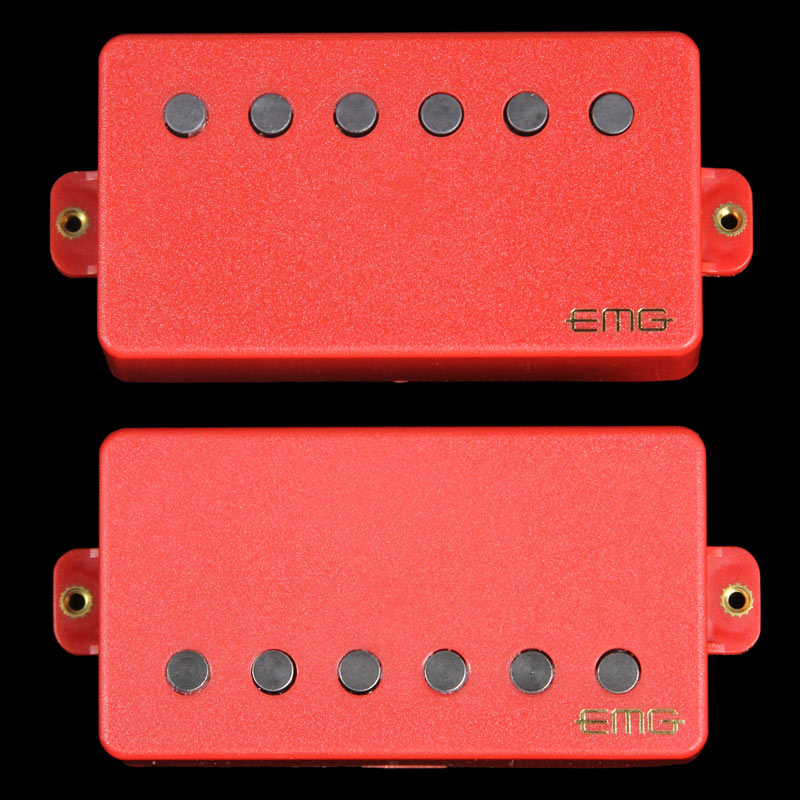 EMG Red Series 57/66 Electric Guitar Humbucker Pickups Set