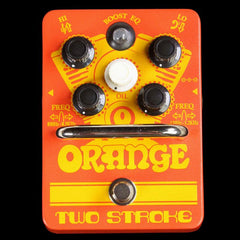 Orange Two Stroke Boost EQ Effects Pedal