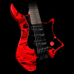 Strandberg Singularity Per Nilsson Signature Model Standard Frets Electric Guitar Black and Red Swirl