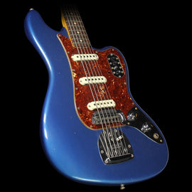 Used 2016 Fender Custom Shop NAMM Display Bass VI Journeyman Relic Electric Bass Faded Lake Placid Blue