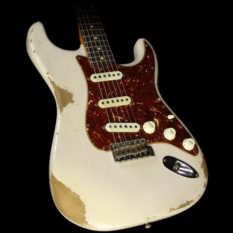 Fender Custom 1961 Roasted Alder Stratocaster Heavy Relic Electric Guitar Dirty White Blonde