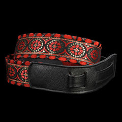 Jodi Head Brocade Guitar Strap (Adel Red)
