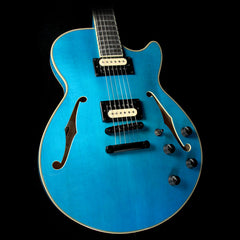 D'Angelico EX-SS Fabrizio Electric Guitar Transparent Blue