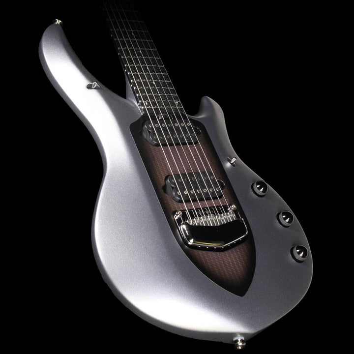 Used Ernie Ball Music Man John Petrucci Majesty 7 Seven-String Electric Guitar Silver Lining M05406