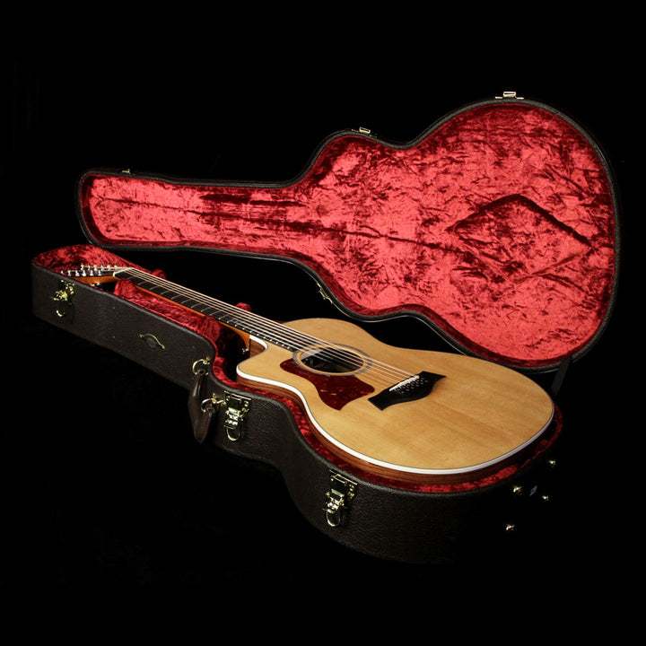 Taylor 254ce-DLX 12-String Grand Auditorium Left-Handed Acoustic Guitar Natural 2104247409