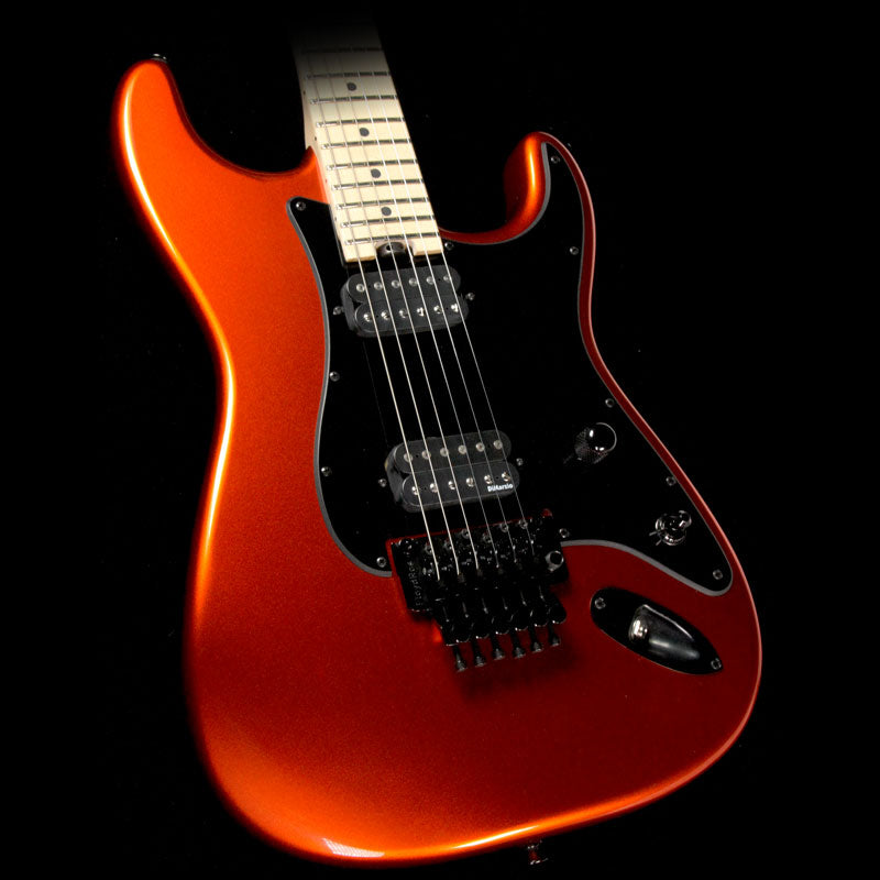 Used Charvel Custom Shop So Cal 2H Electric Guitar Candy Tangerine with Matching Headstock C9634