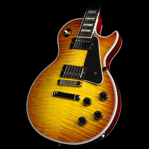 Gibson Custom Shop Zoo Select Les Paul Custom Electric Guitar Iced Tea Burst with Cherry Back