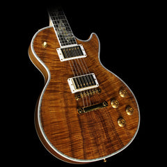 Gibson Custom Shop Les Paul Ultima Koa With Butterfly Inlays Electric Guitar Natural