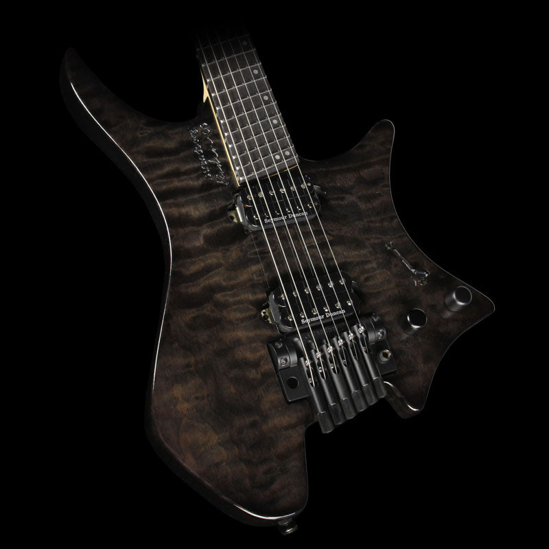 Strandberg Boden OS 6 Tremolo Electric Guitar Black Gloss Quilt Top