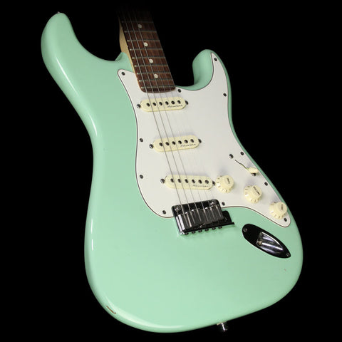 Used 2013 Fender Artist Series Jeff Beck Stratocaster Electric Guitar Surf Green