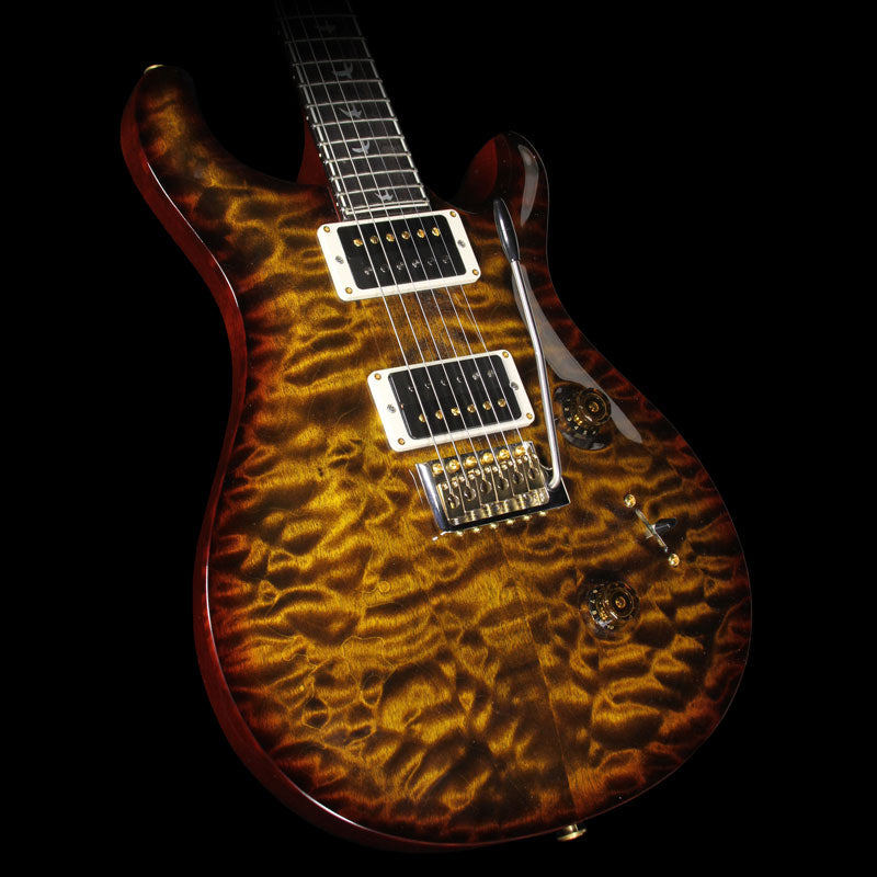 Used 2014 Paul Reed Smith 30th Anniversary Custom 24 Electric Guitar Black Gold Wrap Burst