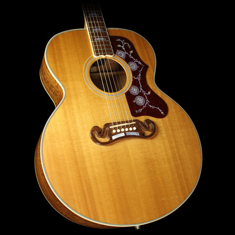 Used 2004 Gibson Limited Edition SJ-200 Custom AAA Koa Acoustic/Electric Guitar Natural