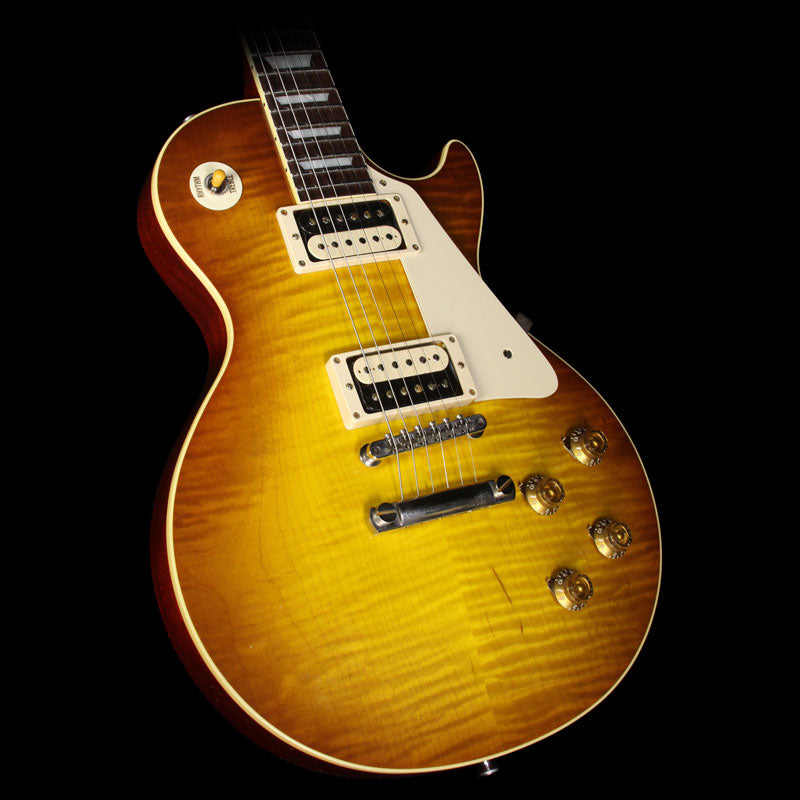 Used 2016 Gibson Custom Shop Standard Historic ContouR8 1958 Les Paul Reissue Electric Guitar Iced Tea