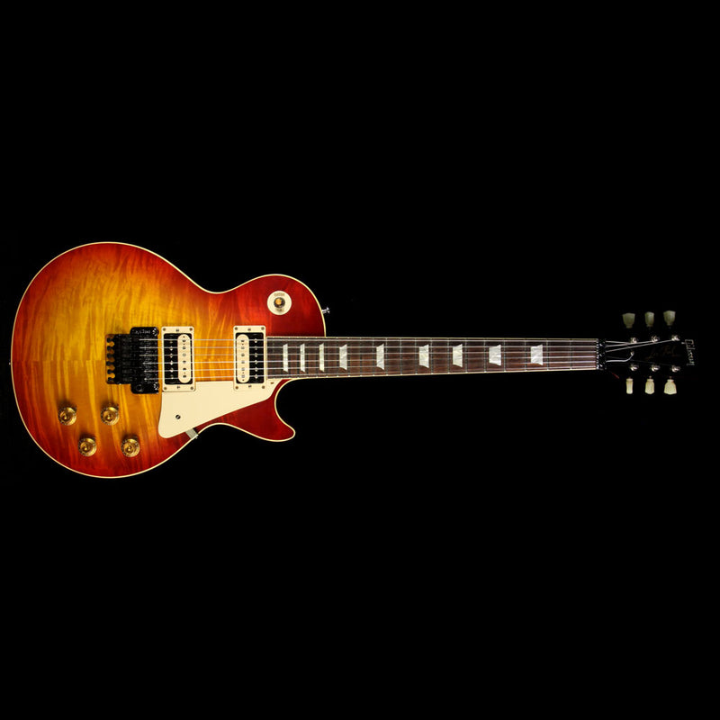 Used 2016 Gibson Custom Shop Standard Historic ContouR8 1958 Les Paul Reissue Electric Guitar Washed Cherry with Floyd Rose R8 61743