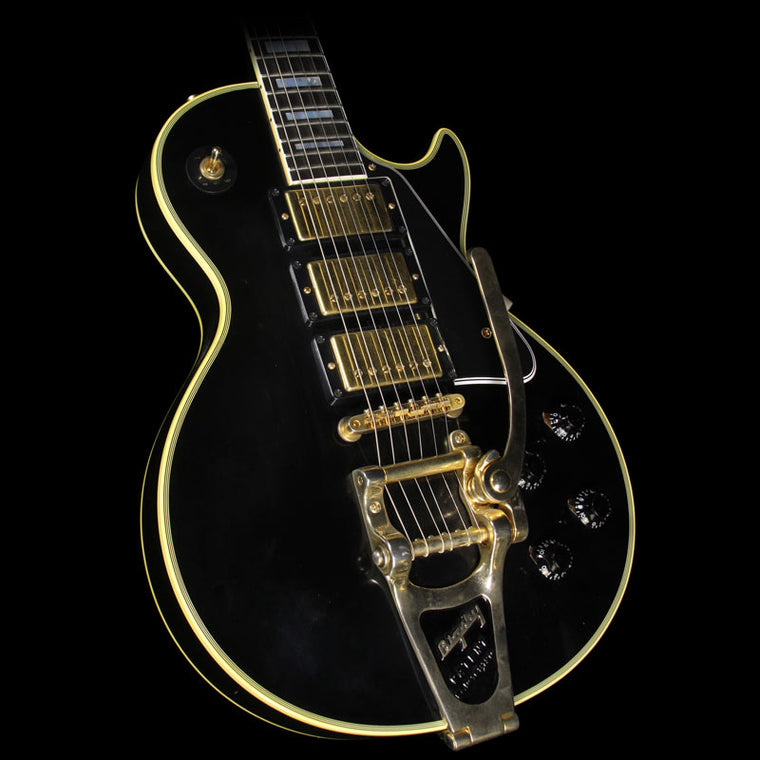 Used 2008 Gibson Custom Shop Jimmy Page Les Paul Custom VOS Electric Guitar Ebony