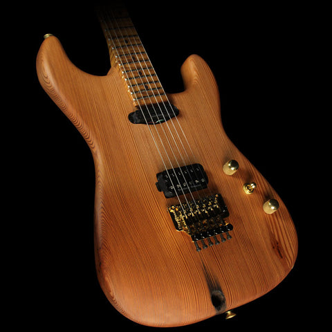 Charvel Custom Shop Music Zoo Exclusive Carbonized Recycled Redwood San Dimas HS Electric Guitar