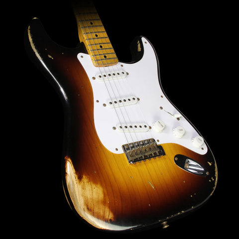 Used 2014 Fender Custom Shop 60th Anniversary 1954 Stratocaster Relic Electric Guitar 2-Tone Sunburst